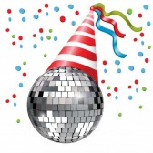 Image of a sparkly party hat