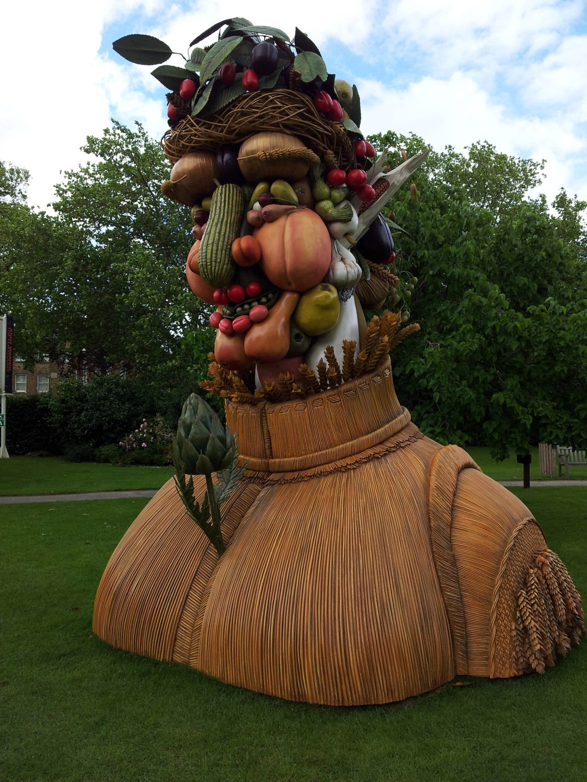 Straw Head and shoulders model at Dulwich Picture Gallery