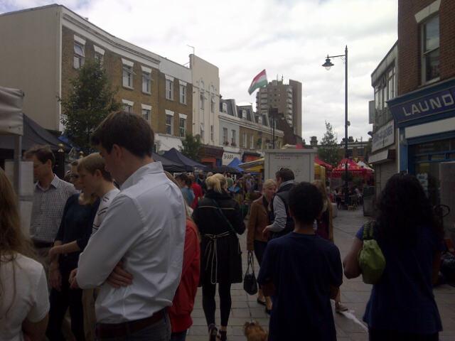 Busy Herne Hill Market - 18 August 2013 (S Badman)