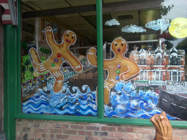Kindred Bakery window art - 23rd Aug (photo: S Badman)