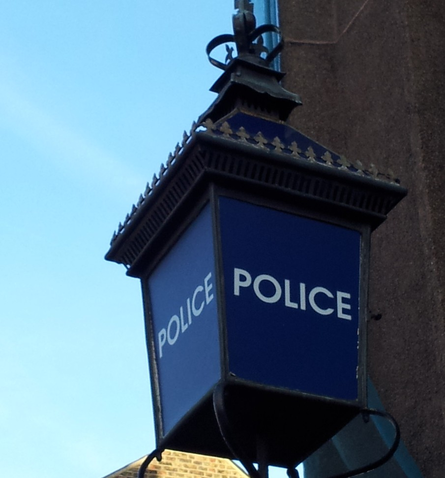Police sign in Lordship Lane