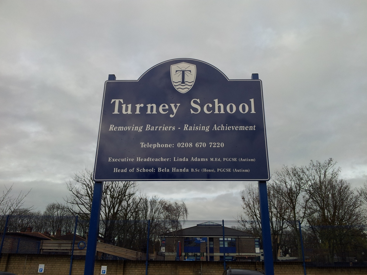 Turney School sign
