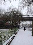 The snow begins in Burbage Road 18 Jan 2013
