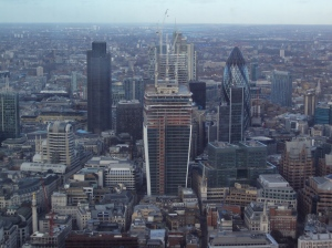 The City from the Shard.  27 Jan 2013.