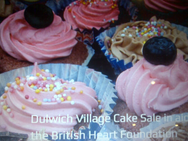 Cakes!  Cakes! Cakes!  Dulwich Village Cake Sale, Sunday 19th May 1pm in aid of BHF