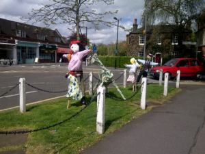 Dulwich Village Crossroads scarecrows