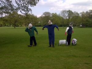 Golf Course scarecrows
