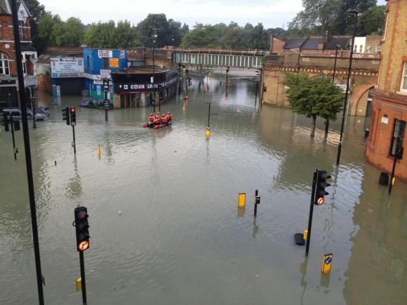 Flooding in Herne Hill on 7th Aug 2013 (Cllr Rosie Shimell)