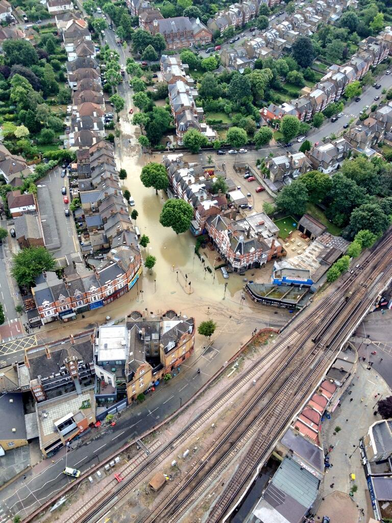 Overview of Herne Hill Flooding 7 Aug 2013 (MPS)