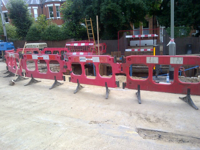 Progress of the pipe replacement in Half Moon Lane (S Badman)