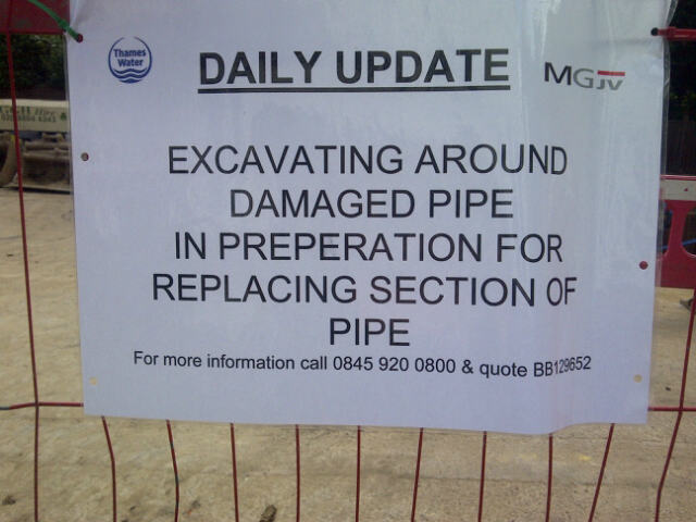 Thames Water Notice