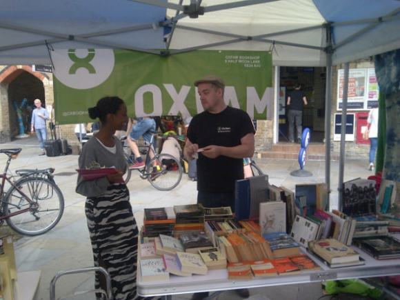 Oxfam at the Herne Hill Market 1st Sept (photo: S Badman)