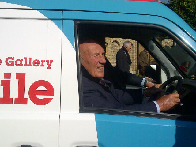 Sir Stirling Moss launches the Artmobile at the Dulwich Picture Gallery Tues 10th Sept