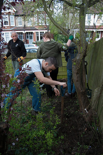The Dulwich Society and the London Wildlife Trust join forces to create a wildlife habitat in Burbage Road