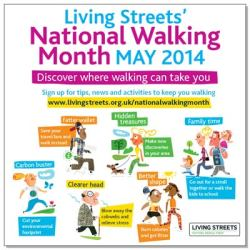 May is National Walking Month – join in by walking to Work and School