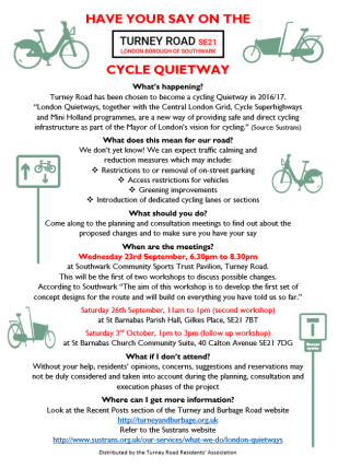 Quietway on Turney Road