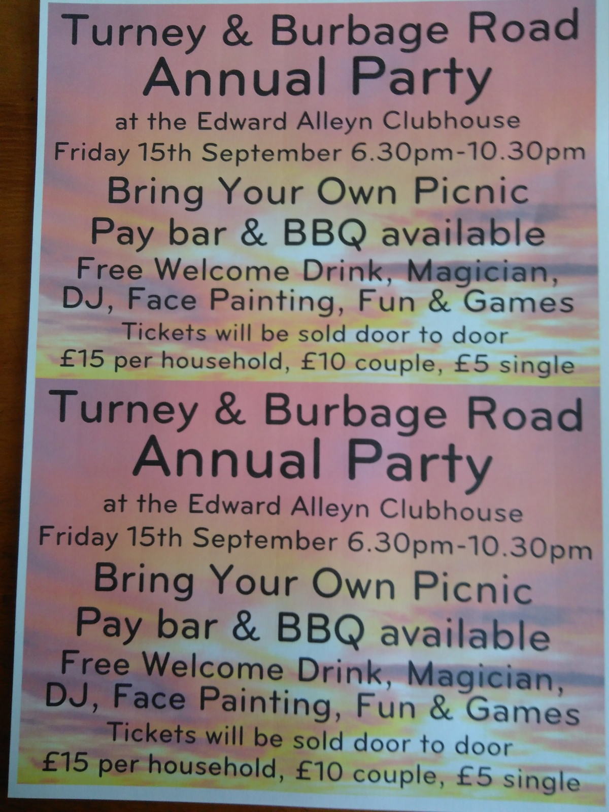 Street Party – Friday 15th