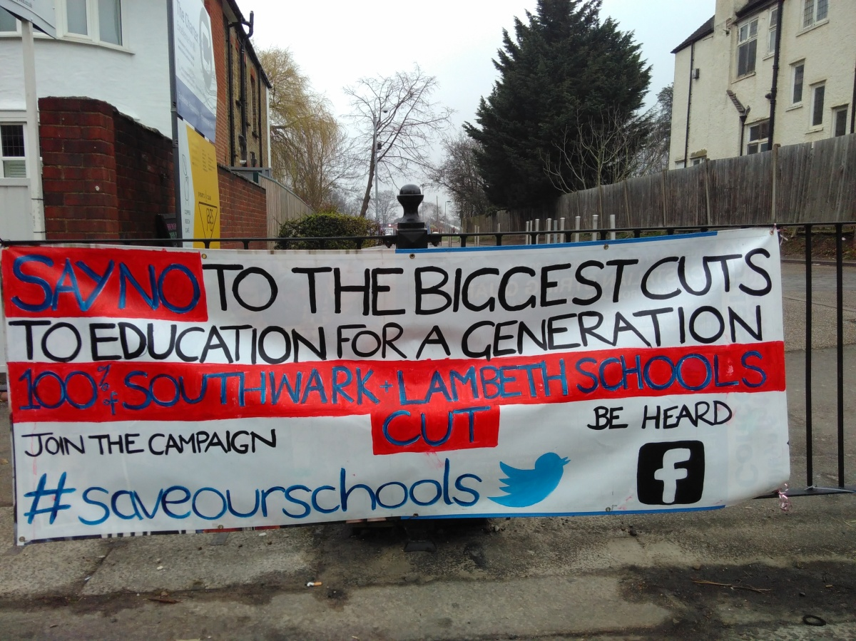 Dulwich Schools protest funding cuts